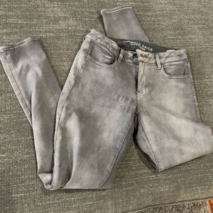 American Eagle Outfitters Distressed Gray Jeggings